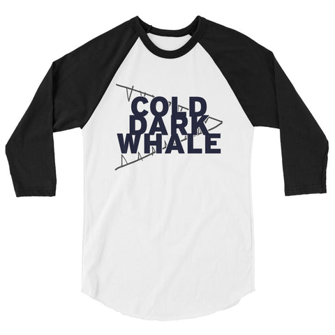 Cold Dark Whale - Unisex 3/4 sleeve raglan shirt