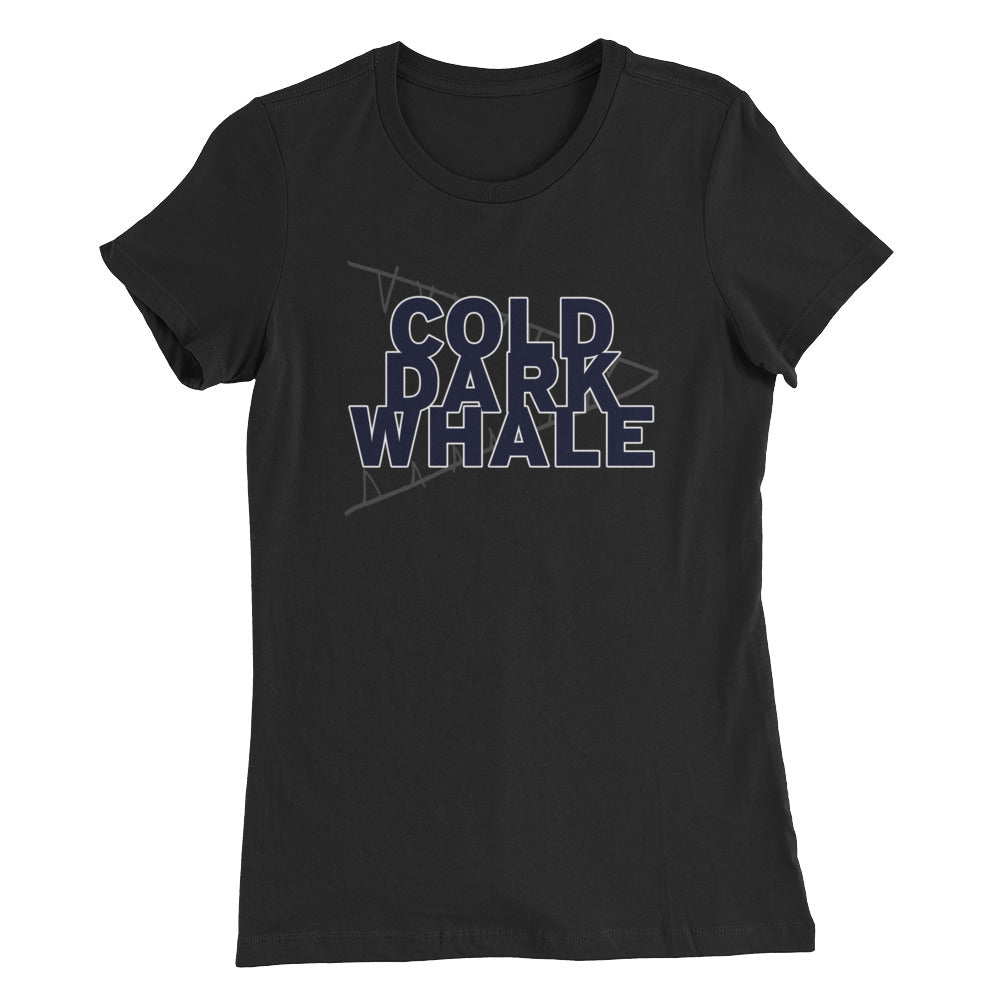Cold Dark Whale - Women's Slim Fit T-Shirt