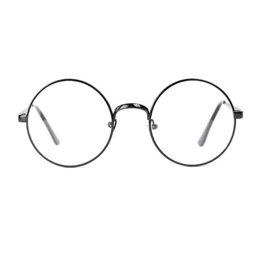 Large Oversized Round Metal Clear Lens Glasses