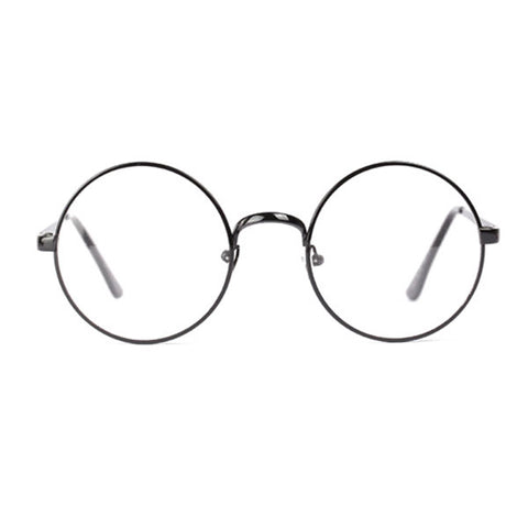Large Oversized Round Metal Clear Lens Glasses Multi