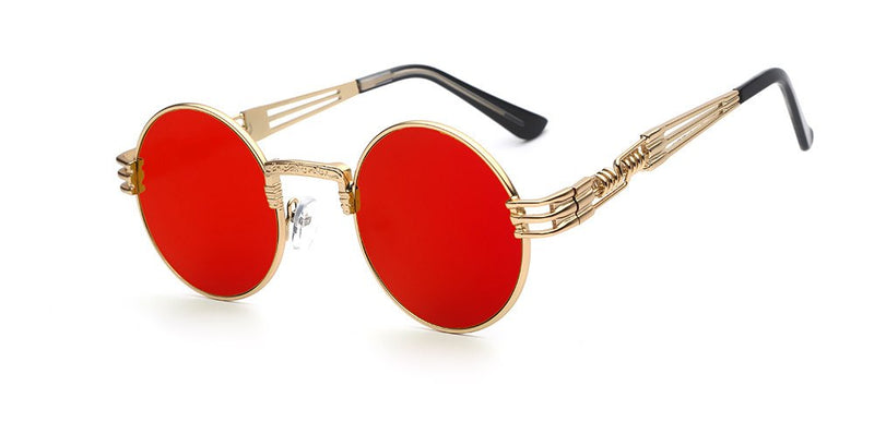Round Metal Frame Sunglasses For Men and Women - 4PointsShop
