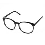 Vintage Frame Oval Clear Lens Glasses Black