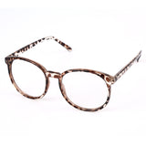 Vintage Frame Oval Clear Lens Glasses Brown Spots