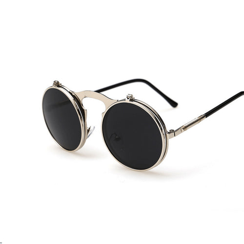 Flip-Up Round Double Lens Sunglasses