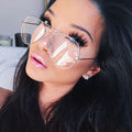 Oversized Clear Lens Aviation Glasses