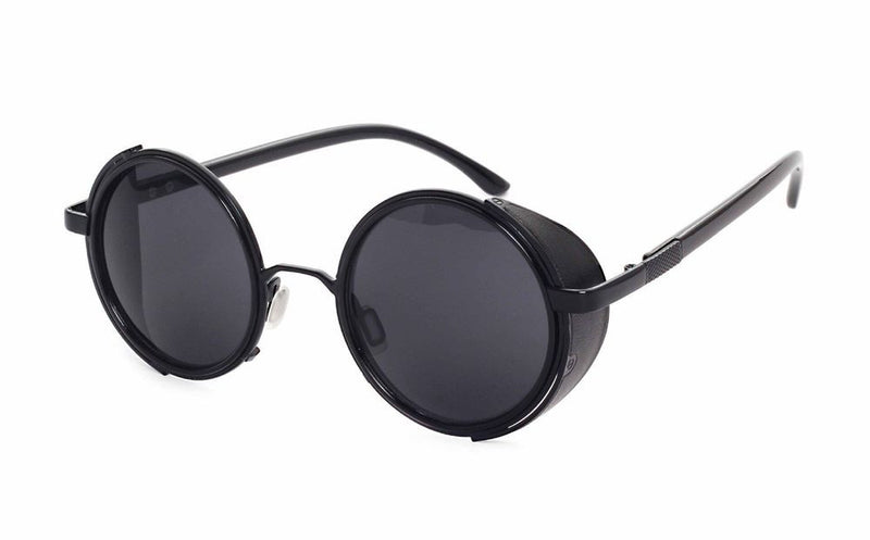 Unisex mirrored Retro Steampunk Round Sunglasses