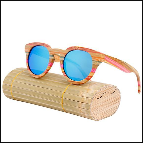 Cat Eye UV400 Bamboo Sun Glasses For Women C1