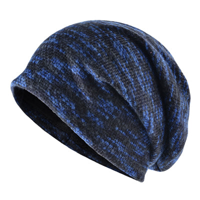 Lengthened Knitted Wool Skullies For Men and Women Blue -4PointShop