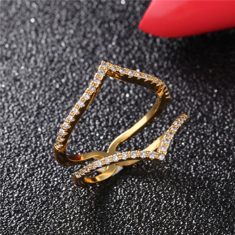 Double Heart Ring Fine Jewelry For Women 034