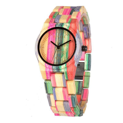 Bamboo Wood Watch Women's Luxury Brand Mix3 - 4PointShop