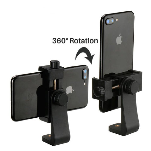 Tripod Cell Phone Mount Holder Vertical 360 Degree Adapter