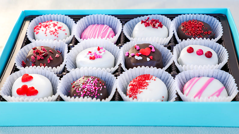 Sweetheart Themed Assorted Boozy Cake Bites (12) *Delivered
