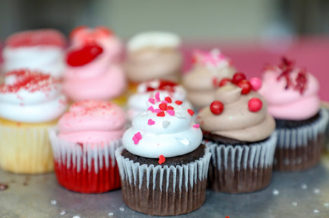 Sweetheart Cupcakes Assortment - Virgin
