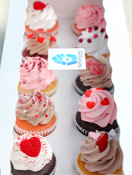 Standard Sized Sweetheart Assortment - Sin City Cupcakes