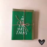 COOL YULE - A6 Christmas card with envelope - Printed on quality recycled card