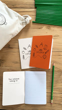 Little Explorer Notebook & pencil gift set - size A6, lined paper, recycled paper stock