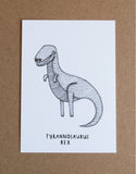 DINOSAUR Card Bundle  *12 pack* 4 Dinosaur illustrations, 3 of each design * Size A6 printed on recycled card - The perfect gift