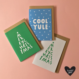 MERRY CHRISTMAS - A6 Christmas card with envelope - Printed on quality recycled card