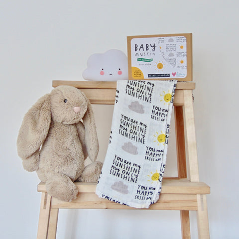 You Are My Sunshine Baby Muslin NEW to The Lullaby Collection 100/% bamboo 60 x 60cm square