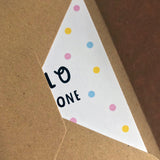 HELLO LITTLE ONE - A6 Greetings card with envelope - Printed on quality recycled card