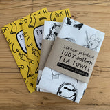 Art Challenge Tea Towel & Book Bundle - Get yours now! 100% screen printed cotton tea towel
