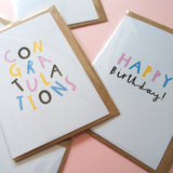 RAINBOW - A6 Greetings card - Printed on quality recycled card