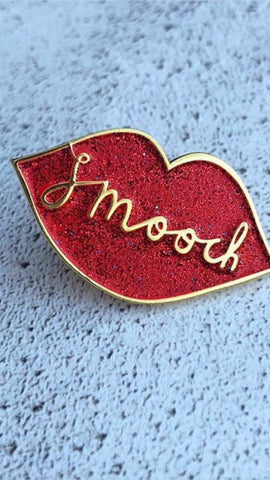 Sparkly Smooch Enamel Pin *NEW COLLABORATION *