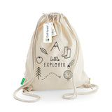 'Little Explorer' Kids Kit Bag - Screen printed hand-drawn design on organic cotton