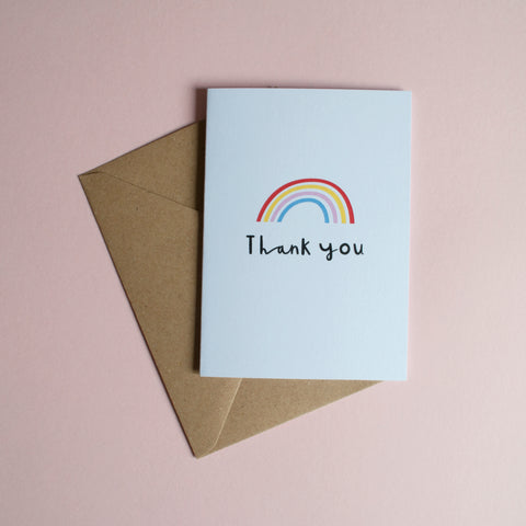 THANK YOU - A6 Greetings card with envelope - Printed on quality recycled card