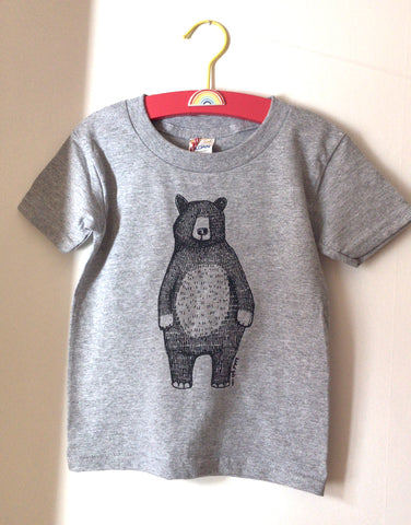 NEW *Mr Bear Kids Tees * in GREY, sizes 2yrs-6yrs