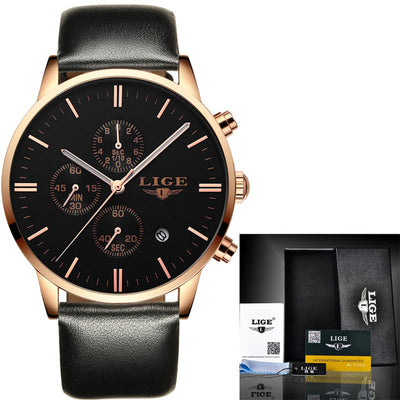 LIGE™  Top Brand Mens Watches