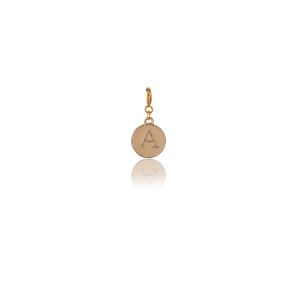 The Omnia Design Company Alphabet Charm in Beige