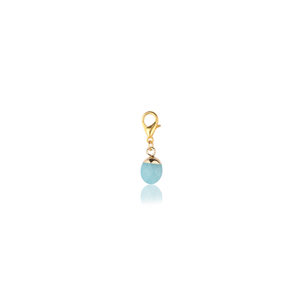 The Omnia Design Company Aquamarine Stone Charm The Omnia Design Company