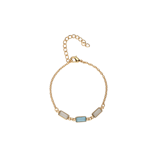 Ssoul Bracelet Delicate Stone Bracelet in Green and Blue The Omnia Design Company