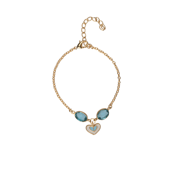 Ssoul Bracelet Heart Charm Bracelet in Blue The Omnia Design Company