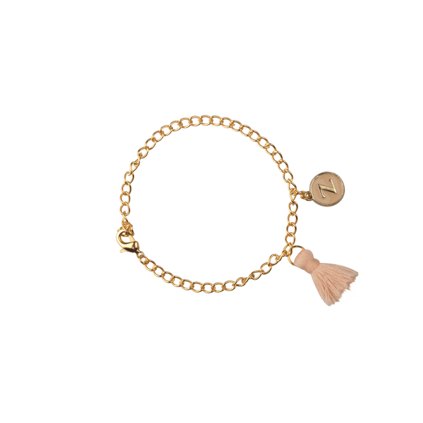 The Omnia Design Company Bracelets Initial Bracelet in Beige The Omnia Design Company