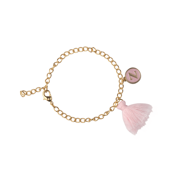 The Omnia Design Company Bracelets Initial Bracelet in Light Pink The Omnia Design Company