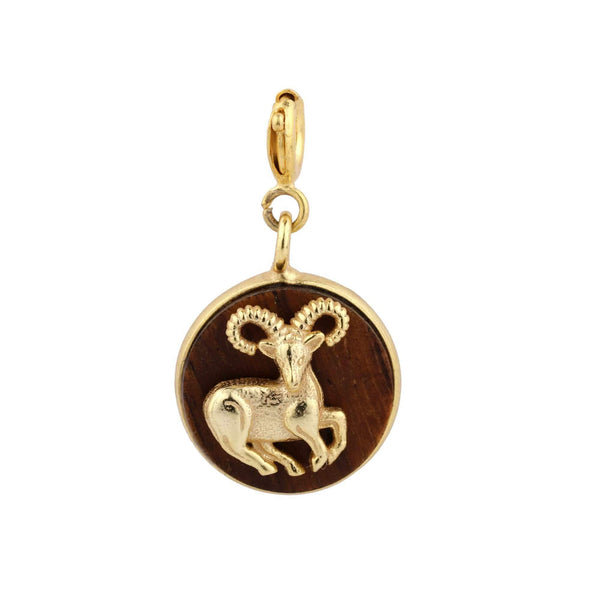 Madiha Jaipur Charm Aries Wooden Charm The Omnia Design Company