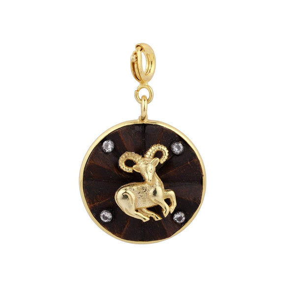 Madiha Jaipur Charm Aries Zodiac Charm Necklace The Omnia Design Company