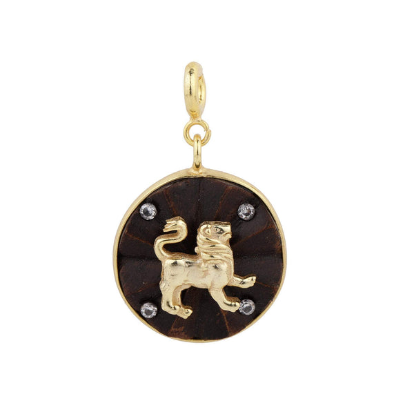 Madiha Jaipur Charm Leo Charm with Stones The Omnia Design Company