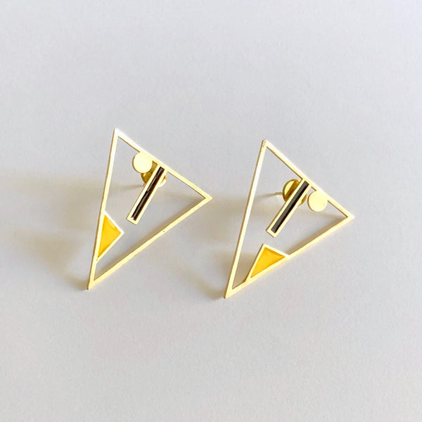 SSoul Earrings Black & Yellow Varg Earrings