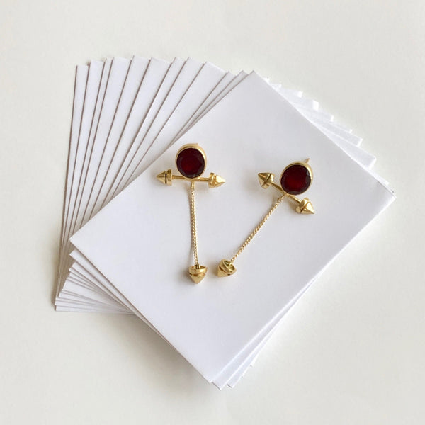 In Stock Earrings Maroon The Pakhezaa Earrings