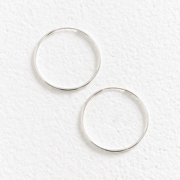 In Stock Earrings Minimal Silver Hoops