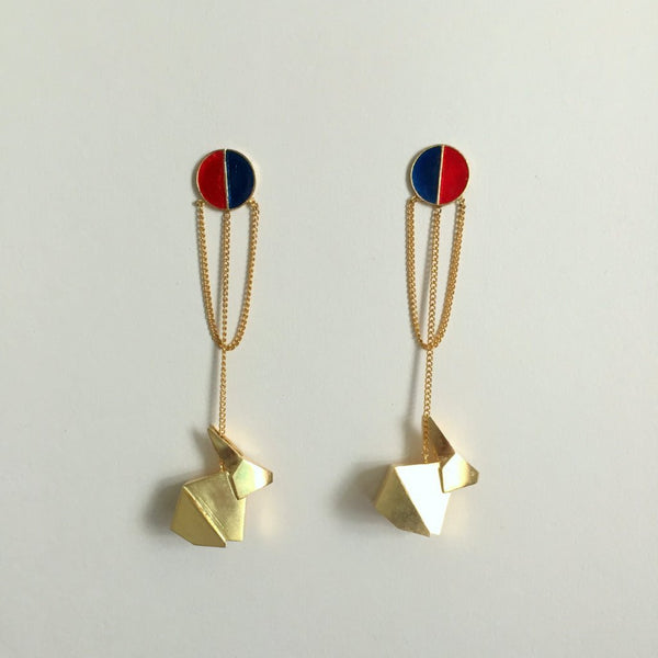 In Stock Earrings The Bastiaan Earrings The Omnia Design Company