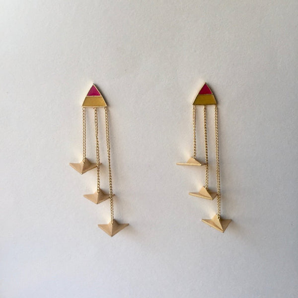 In Stock Earrings The Rehmat Earrings The Omnia Design Company