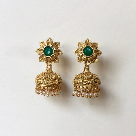 In stock Earrings The Small Temple Jhumki's The Omnia Design Company