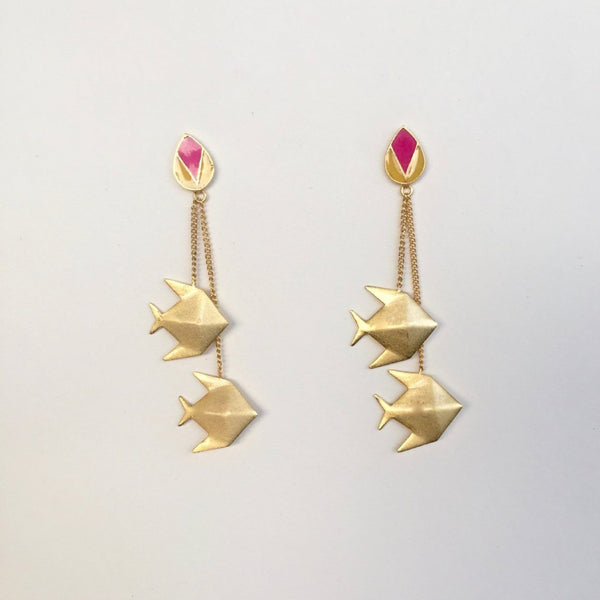 In Stock Earrings The Vastalaa Earrings The Omnia Design Company