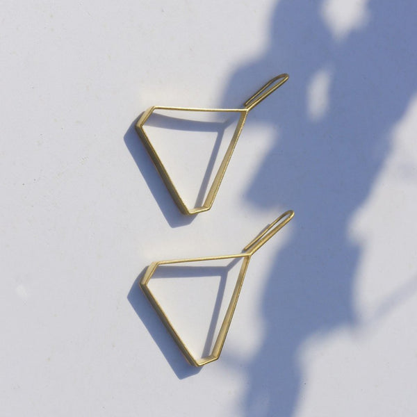 In Stock Earrings Triangular Earrings The Omnia Design Company