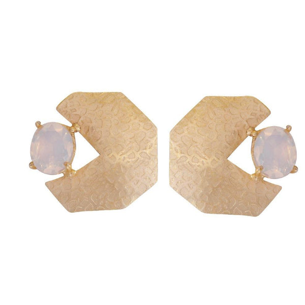 ANTARES Moonstone Geometric Earrings