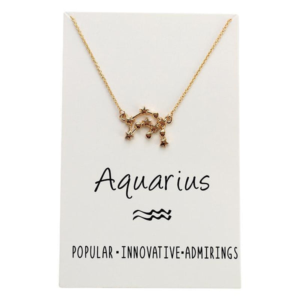 In Stock Necklace Aquarius The Constellation Necklace The Omnia Design Company